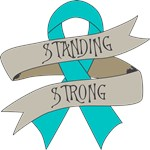 Peritoneal Cancer Standing Strong Shirts