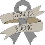 Brain Tumor Standing Strong Shirts