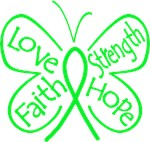 Lyme Disease Butterfly Strength Shirts