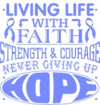 Stomach Cancer Living Life With Faith Shirts