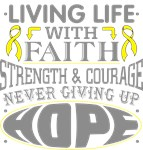 Osteosarcoma Living Life With Faith Shirts