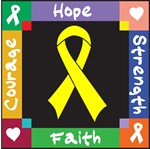 Testicular Cancer Courage Hope Shirts