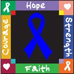 Colon Cancer Courage Hope Shirts