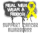 Osteosarcoma Real Men Wear a Ribbon Shirts