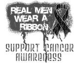 Melanoma Real Men Wear a Ribbon Shirts