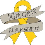 Childhood Cancer Never Give In Shirts