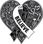 Carcinoid Cancer Believe Shirts