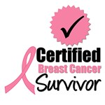 Certified Breast Cancer Survivor T-Shirts & Gifts