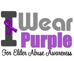 I Wear Purple For Elder Abuse T-Shirts