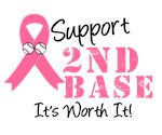 Support 2nd Base Breast Cancer T-Shirts & Gifts