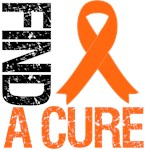 Find A Cure Orange Ribbon Shirts & Gifts