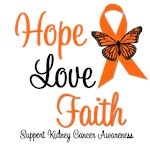 Kidney Cancer Hope, Love & Faith Shirts & Gifts
