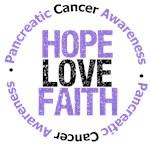Pancreatic Cancer Hope Love Faith Shirts & Gifts