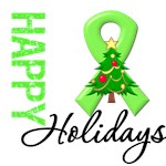 Lime Green Ribbon Christmas Holiday Cards & Gifts