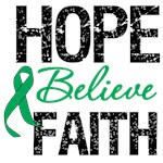 Hope Believe Faith Liver Cancer  Shirts & Gifts