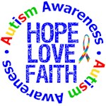 Autism Hope Love Faith Awareness Shirts & Gifts
