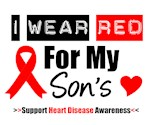 I Wear Red Son Heart Disease Shirts