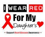 I Wear Red Daughter Heart Disease Shirts & Gifts