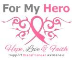 Breast Cancer Hero Tribal Ribbon Shirts