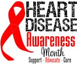 February Heart Disease Month Shirts and Gifts