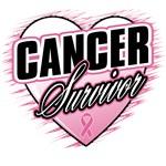 Breast Cancer Survivor Grunge Heart Shirts & Gifts