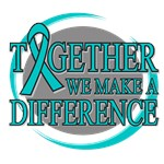 Ovarian Cancer Together Ribbon Shirts & Gifts