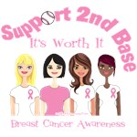 Support 2nd Base Breast Cancer Shirts