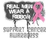 Real Men Wear a Pink Ribbon Shirts