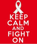 Lung Cancer Keep Calm Fight On Shirts