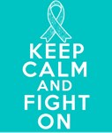 Peritoneal Cancer Keep Calm Fight On Shirts