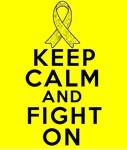 Testicular Cancer Keep Calm Fight On Shirts
