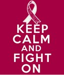 Throat Cancer Keep Calm Fight On Shirts