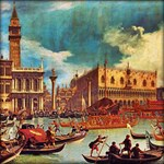 Canaletto: Bucentaur's return to the pier by the P