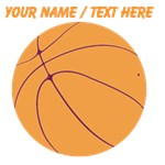 Custom Orange Basketball
