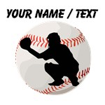 Custom Baseball Catcher Silhouette