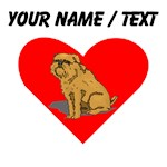 Custom Brussels Griffon Heart