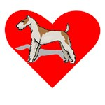 Wire Fox Terrier Heart