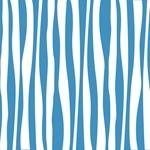 Aqua Zebra Print