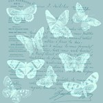 Blue Butterflies Collage