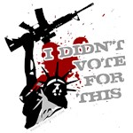 I Didn't vote for this - war protest shirts