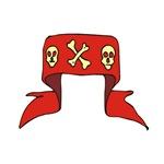 Skull Red Banner