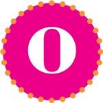 o monogram, pink