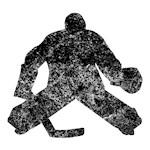 Distressed Hockey Goalie Silhouette