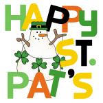 Snowman Happy St. Pat's Day