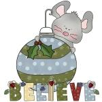 Christmas  Mouse Believe T-shirts and Gifts