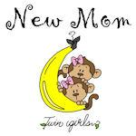 Monkeys Mom of Twin Girls Tshirts and Gifts