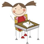 Girl Doing School Work Tshirts and Gifts
