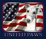 Greyhound United Paws US Flag Gift Items