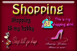 Shopping T-shirts and gifts.