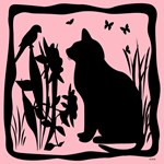SPRING KITTY SILHOUETTE